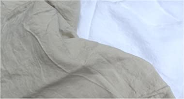 bambeco 100% Pure Natural Flax Linen Bedding Made in Portugal (Natural, Standard Sham)