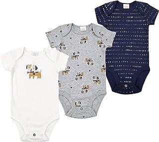 3 Paquetes Bebé Manga Corta Mono Recién Nacido Niños Chaleco 100% Algodón Verano Niñas Mameluco Pijama 0-12 Meses
