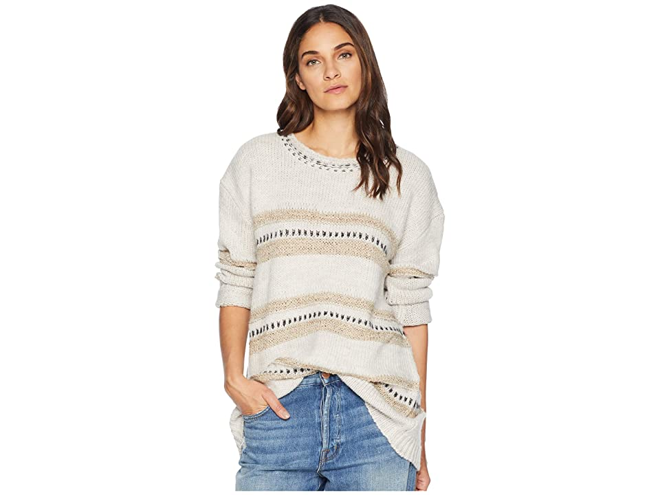 Jack by BB Dakota Spice of Life Stripe Pattern Sweater (Ivory) Women