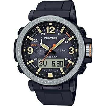 Casio Men's Pro Trek Japanese-Quartz Watch with Resin Strap, Black, 23.77 (Model: PRG-600-1CR)