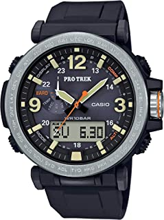 Men's PROTREK Japanese-Quartz Watch with Resin Strap, Black, 23.77 (Model: PRG-600-1CR)