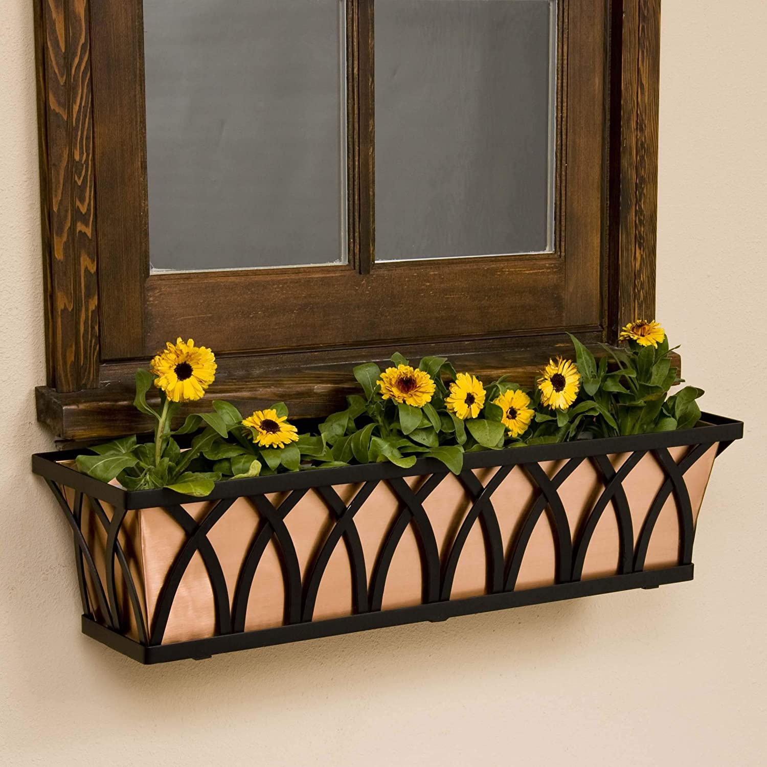 48 inch Arch Tapered Max 55% OFF Iron Window w Liner Box Real Low price Copper