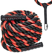 Battle Ropes with Anchor Kit and Nylon Protector Included - Fitness Undulation Rope Exercise - Cross Strength Training - Circuits Workout