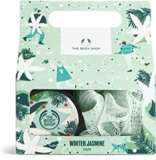 The Body Shop Winter Jasmine Duo- 2pc Gift Set, Includes Jasmine-Scented Body Care Treats