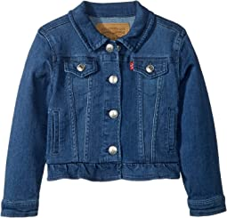 Ruffle Denim Trucker Jacket (Infant)