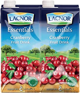 Lacnor Essentials Cranberry Fruit Drink - Pack of 4 Pieces (4 x 1 Liter)