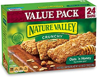 Nature Valley Granola Bars, Crunchy, Oats and Honey, 1.49 Ounce , 24 Count (Pack of 6)