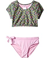 O'Neill Kids - Evelyn Sleeved Crop Top Set (Big Kids)