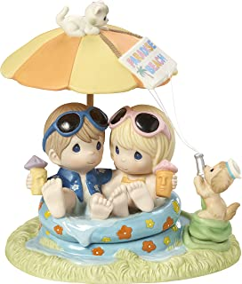 Precious Moments 172001 Everyday with You is Paradise Bisque Porcelain Figurine Limited Edition Couple in Pool