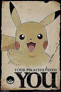 Trends International Pokémon-Needs Mount Bundle Wall Poster, 22.375