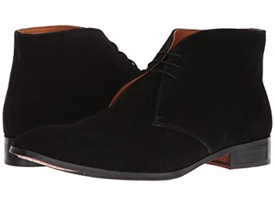 CARLOS by Carlos Santana Corazon Chukka Boot (Black Calfskin Suede) Men