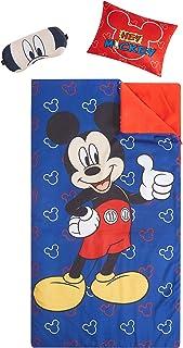 "Disney Mickey Mouse Giftable Sleepover Set with Sleeping Bag, Pillow & Bonus Eye Mask, Ages 3+, Multi, 26""x46"""