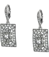 Oscar de la Renta - Multi Crystal Square P Earrings