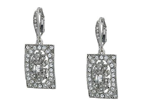 Oscar de la Renta Multi Crystal Square P Earrings