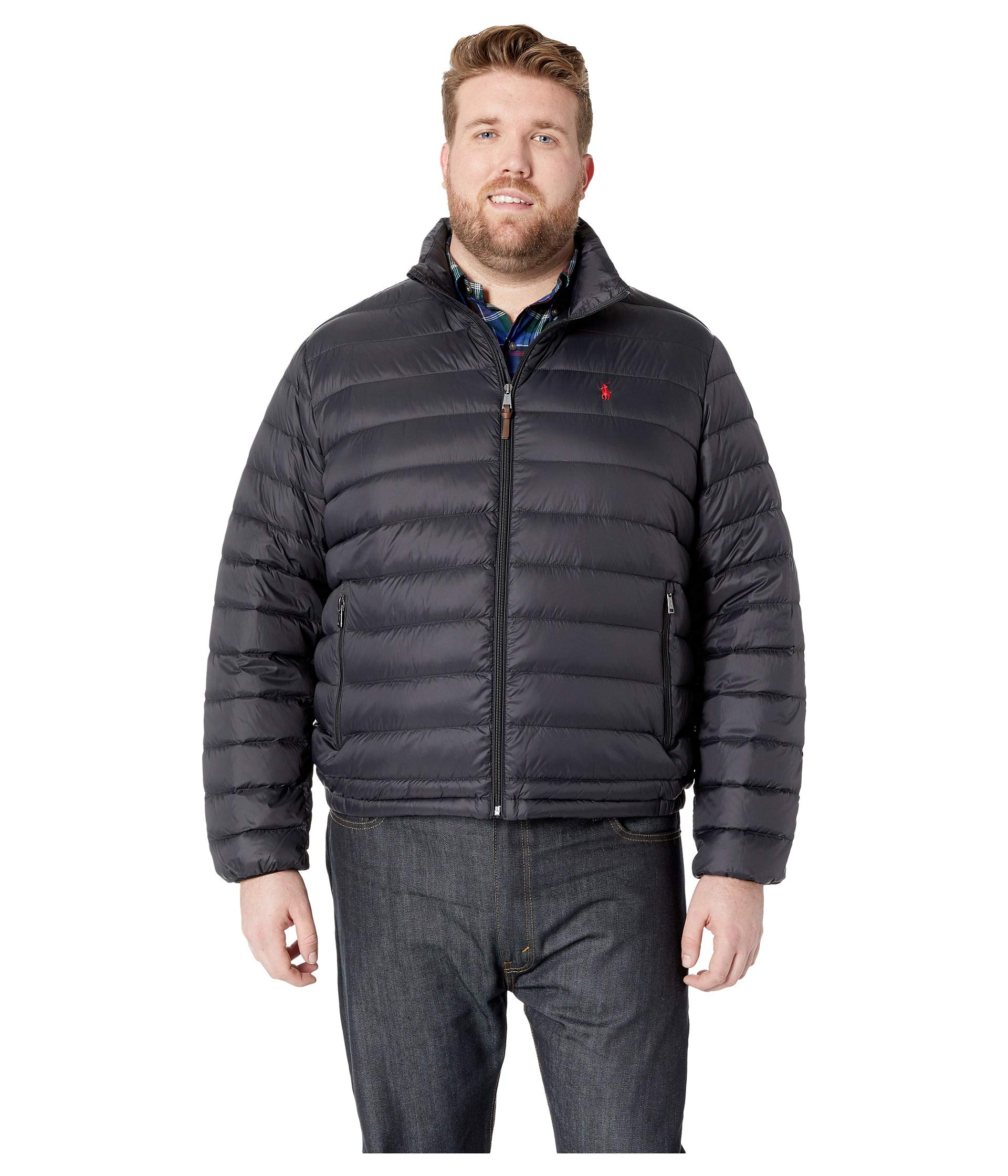Lauren Black Down Jacket Polo amp; Packable Lightweight Tall Ralph Big HWa5Wz