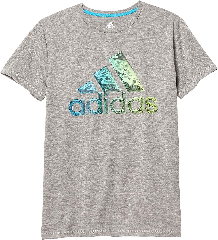 adidas Kids Boy's Short Sleeve Liquid Metal Tee (Big Kids)