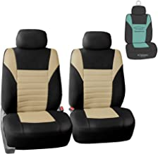 FH Group FB068102 Premium 3D Air Mesh Seat Covers Pair Set (Airbag Compatible) w. Gift, Mint/Black Color- Fit Most Car, Truck, SUV, or Van