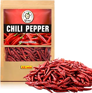 Yimi Premium Whole Dried Chilies, Chinese Dry Red Chili Peppers, For Hot Chili Oil and Sichuan Chongqing Hotpot, 10.7oz, Holiday Gift, Medium Hot