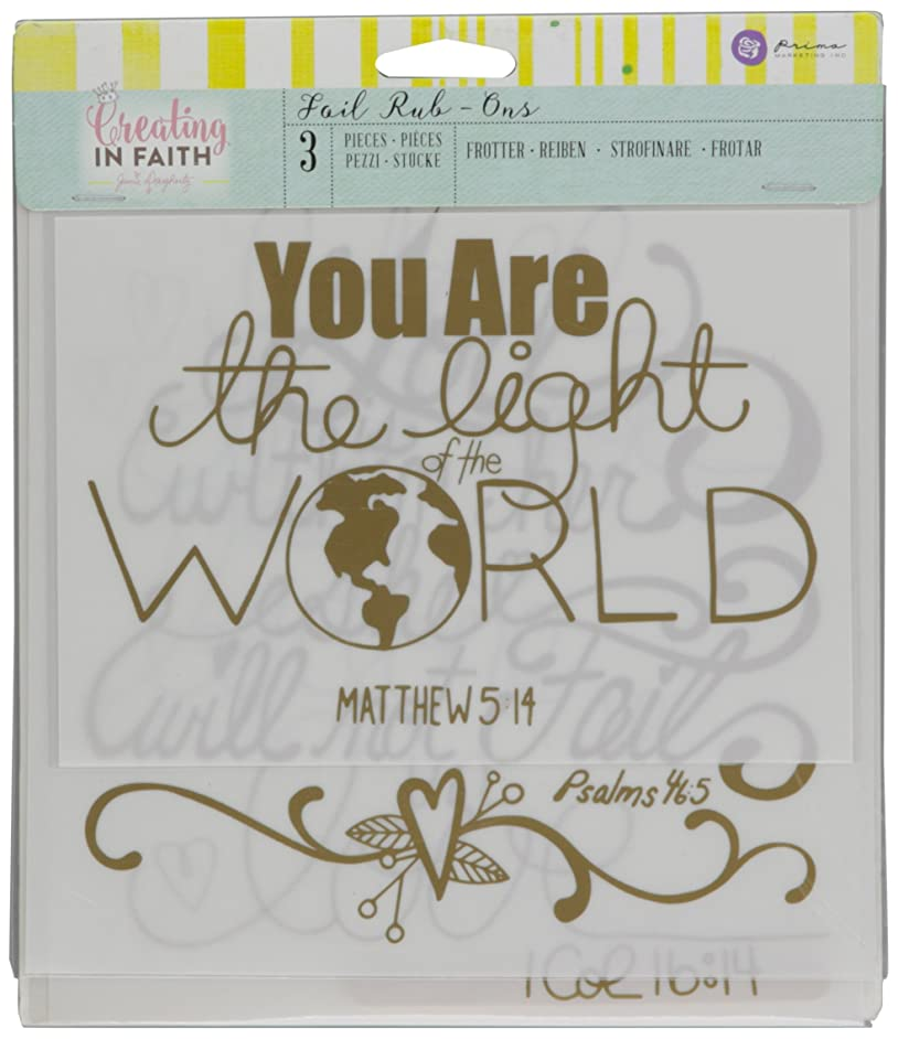 Prima Marketing 980580 Jamie Dougherty Creating in Faith Let All Rub-Ons (3 Pack), 7.3
