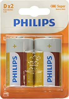 Philips - 54952 - Battery (2) R20 D - Longlife - Random Color