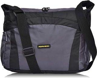 Adamson Two Side Pocket Men and Women Black Cross Body Bag (ASB-044)