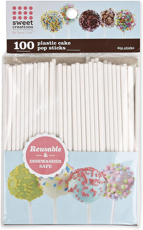 Sweet Creations Reusable Plastic Cake Pop Sticks Improved Version.2021