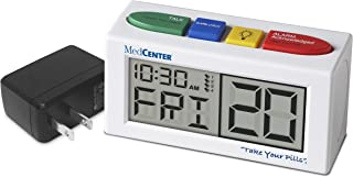 Pill Reminder Talking Alarm Clock with Loud, Easy Set, Multiple Alarms with AC Adapter Included, by MedCenter