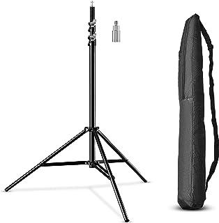 Walimex Pro WT-806 Lampstatief, Maximale Werkhoogte 256 cm, Belastbaarheid: 5 kg, Schroefdraadaansluiting 1/4 en 3/8 inch,...