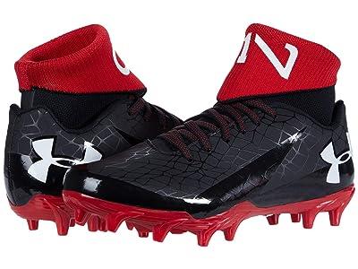Under Armour Kids C1N MC Jr Football (Big Kid) (Black/Red/White) Kids Shoes