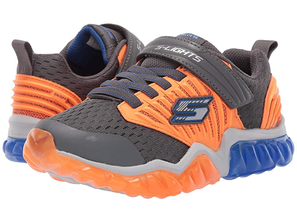 SKECHERS KIDS Rapid Flash 90720L Lights (Little Kid/Big Kid) (Charcoal) Boy