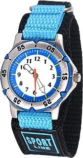 Wolfteeth Boys Watch Analog Quartz with Nylon Fast Wrap Watchband 3119