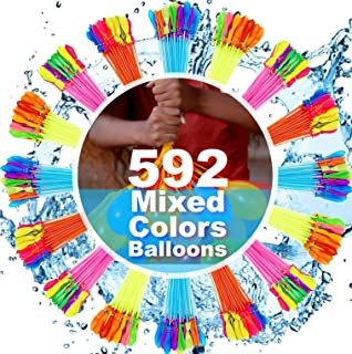 FEECHAGIER Water Balloons for Kids Girls Boys Balloons Set Party Games Quick Fill 592 Balloons for Swimming Pool Outdoor Summer Funs Q38s