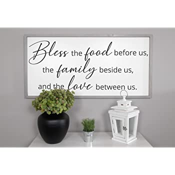 Amazon Com N A Bless The Food Before Us Wood Sign Dining Room Signs Dining Room Wall Decor Kitchen Signs Farmhouse Wall Decor Farmhouse Signs Home Home Kitchen