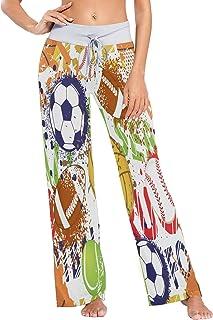nobrand Womens Pajama Lounge Pants Colorful Particles Dispersing and Twisting Wide Leg Casual Palazzo Pj Sleep Pants Girls