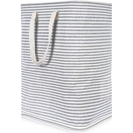 Lifewit Panier à Linge Sale 72L Pliable Imperméable en Tissu avec Une Grande Capacité Gris, 40x30x60cm