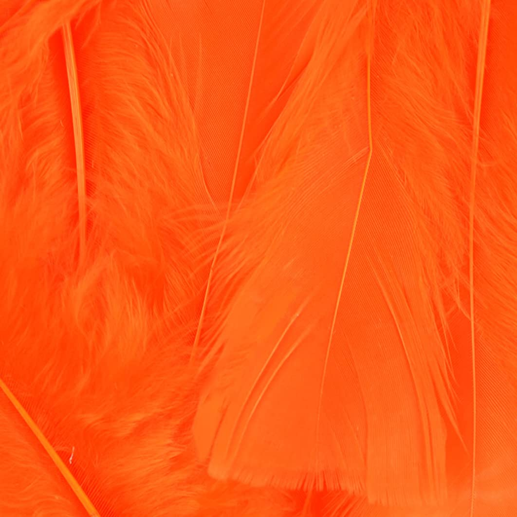 Touch of Nature 38048 Fluffy Feathers, 7 grams, Orange