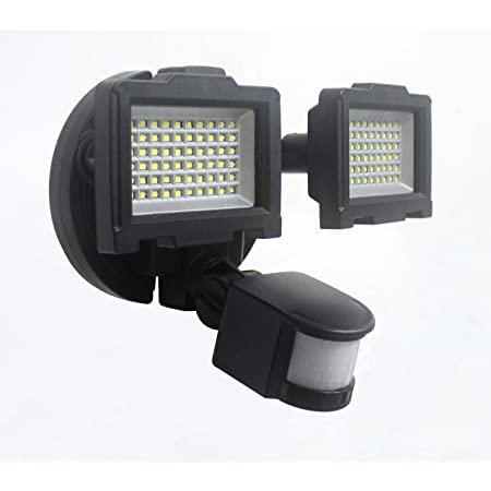 Naturaleza Power 120 Led Dual Lámpara Luz De Seguridad Solar Para Exteriores Con Sensor De Movimiento Negro 23401 0 Volts Home Improvement