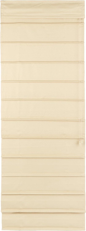 Lewis Hyman 1502237 Room-Darkening Fabric Roman Shade, 23 x 72 , Dove