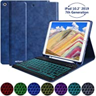 New iPad 7th Generation Case with Keyboard, iPad 10.2 2019 Keyboard Case Lightweight Magnetic...