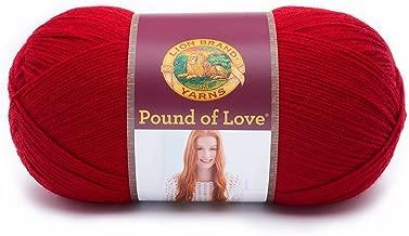 Lion Brand Yarn 550-114 Pound of Love Yarn, One Size, Cherry