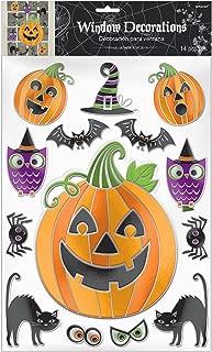 Amscan Pumpkin Embossed Window Sticker Decorations