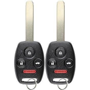 KeylessOption Keyless Entry Remote Control Uncut Car Ignition Key Fob Replacement for MLBHLIK-1T