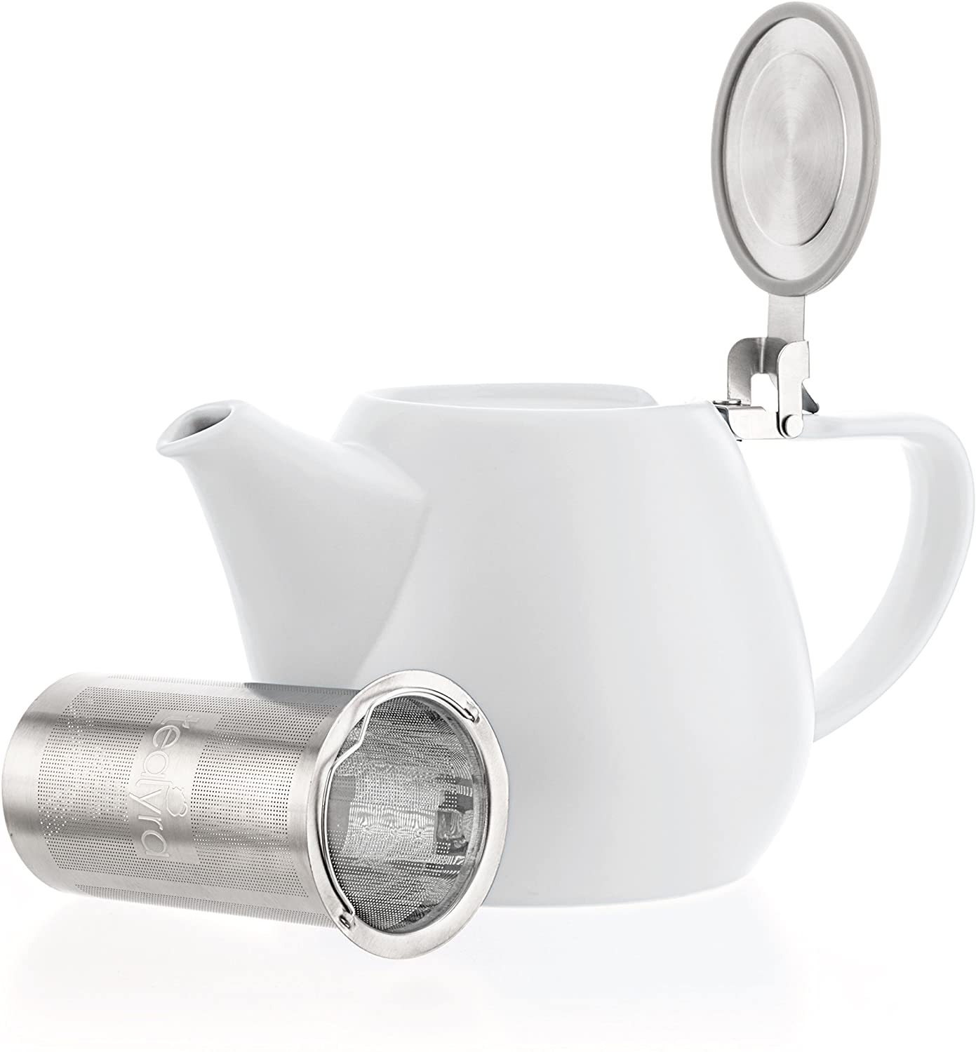 Tealyra - Jove Porcelain Large 3-4 34.0-ounce Teapot cu White Max 67% OFF Fees free