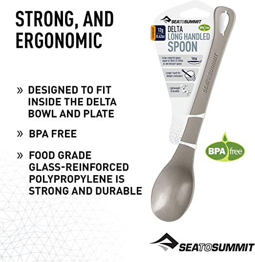 GSI POUCH SPOON LONG HANDLE SPOON IDEAL FOR MEAL POUCH CAMPING CUTLERY BPA FREE