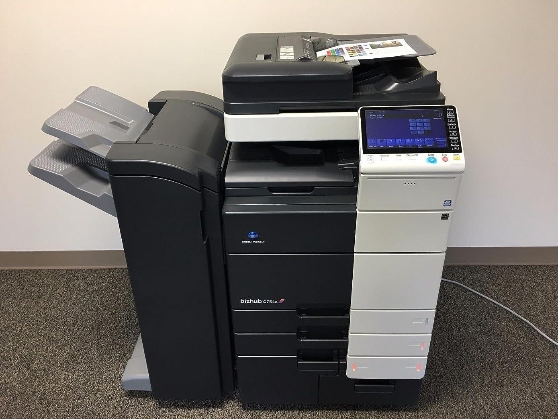 Konica Minolta Bizhub C754e Color Copier Printer Scanner Network with Staple Finisher