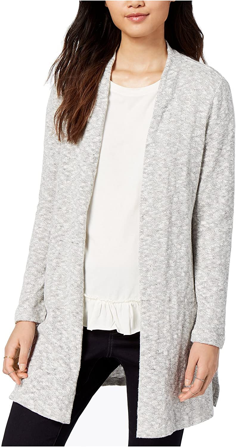 Maison Jules Womens Marled Cardigan Sweater