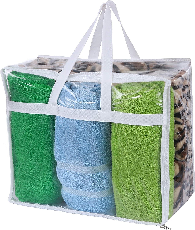 Sale item DiClavus Set of 2 Zippered Organizer Vinyl Bags Max 81% OFF Storage Closet