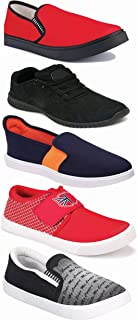 WORLD WEAR FOOTWEAR Sports Running Shoes/Casual/Sneakers/Loafers Shoes for Men Multicolor (Combo-(5)-1219-1221-1140-383-720)