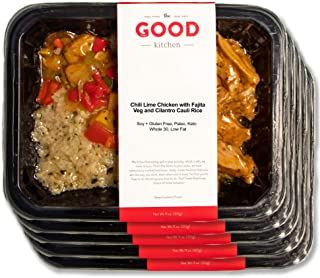 The Good Kitchen, Healthy Frozen Fully Prepared Meals Variety Pack (Pack of 5 11 oz Individual Meals), Paleo, Whole30