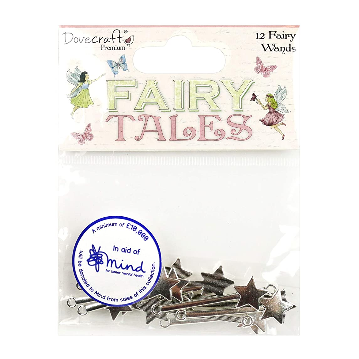 Dovecraft Premium Tales Metal Fairy Wands, Multicolour, 1